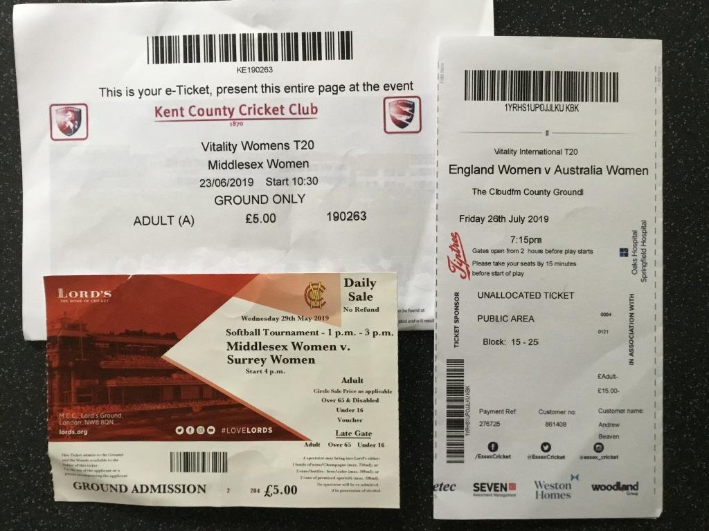 Middx Women vs. Surrey Women Kent Women vs. Middx Women England Women vs. Australia Women